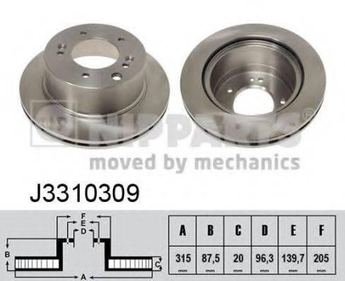 Тормозной диск NIPPARTS J3310309