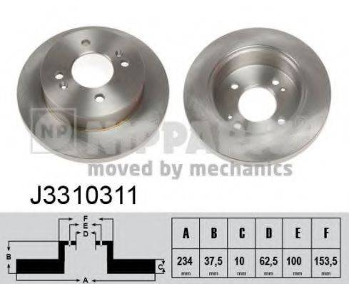 Тормозной диск NIPPARTS J3310311