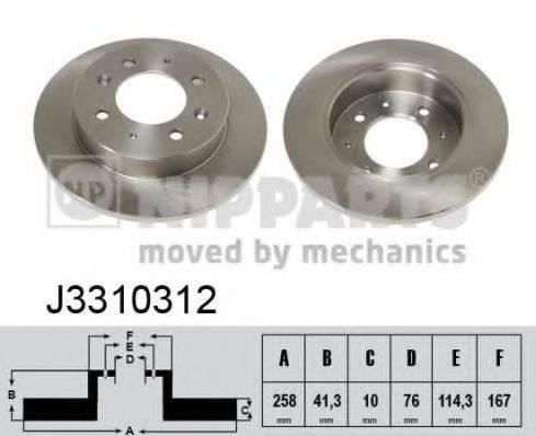 Тормозной диск NIPPARTS J3310312
