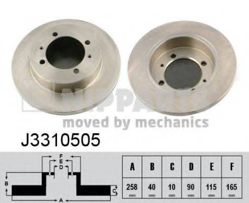 Тормозной диск NIPPARTS J3310505