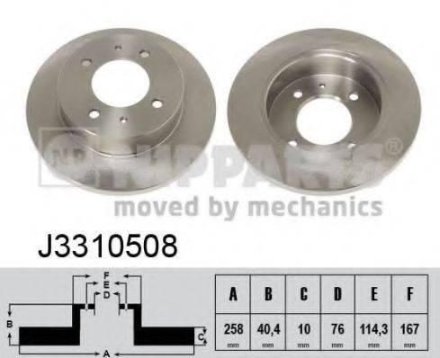 Тормозной диск NIPPARTS J3310508