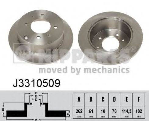Тормозной диск NIPPARTS J3310509