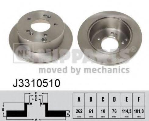 Тормозной диск NIPPARTS J3310510
