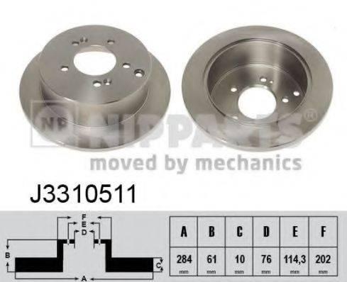 Тормозной диск NIPPARTS J3310511