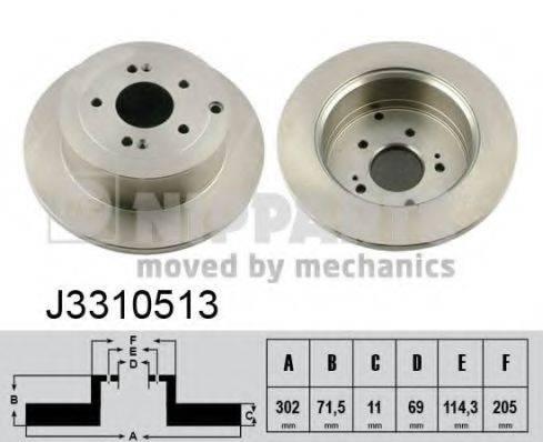 Тормозной диск NIPPARTS J3310513