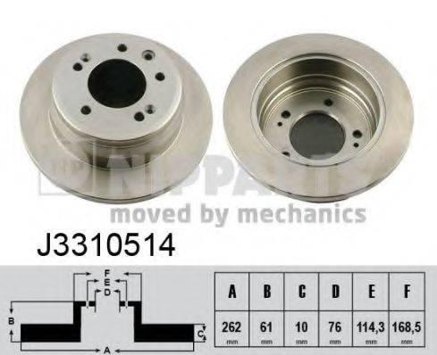 Тормозной диск NIPPARTS J3310514