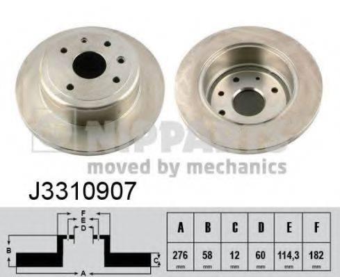 Тормозной диск NIPPARTS J3310907