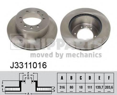 Тормозной диск NIPPARTS J3311016