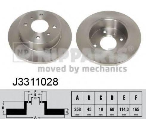 Тормозной диск NIPPARTS J3311028