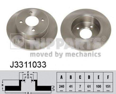 Тормозной диск NIPPARTS J3311033