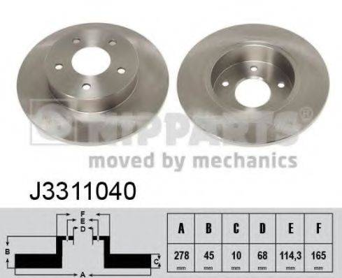 Тормозной диск NIPPARTS J3311040
