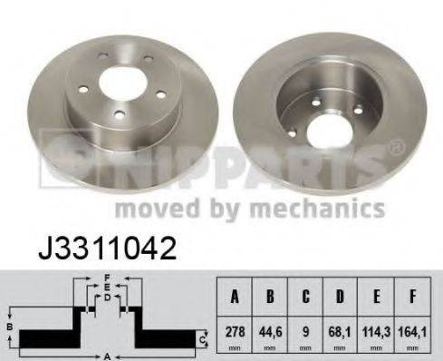 Тормозной диск NIPPARTS J3311042