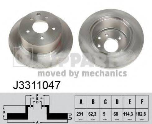 Тормозной диск NIPPARTS J3311047
