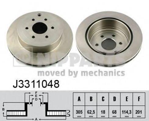 Тормозной диск NIPPARTS J3311048