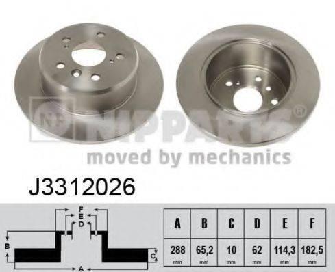 Тормозной диск NIPPARTS J3312026