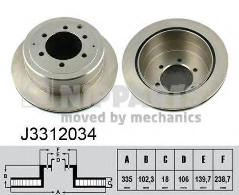 Тормозной диск NIPPARTS J3312034