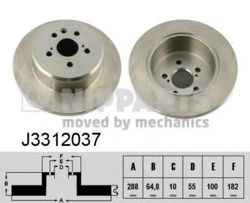 Тормозной диск NIPPARTS J3312037