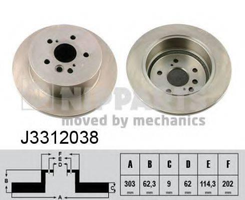 Тормозной диск NIPPARTS J3312038