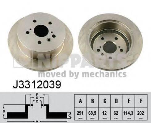 Тормозной диск NIPPARTS J3312039