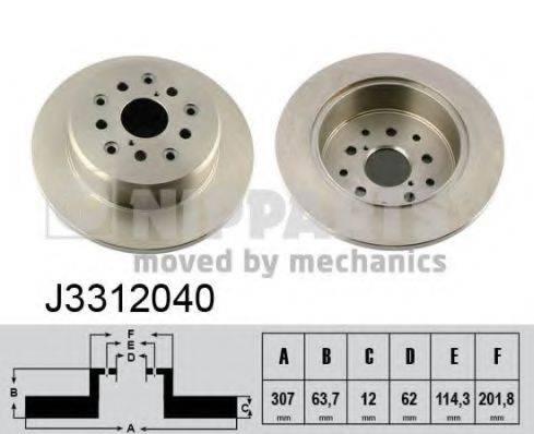 Тормозной диск NIPPARTS J3312040