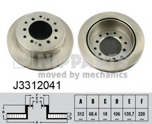 Тормозной диск NIPPARTS J3312041