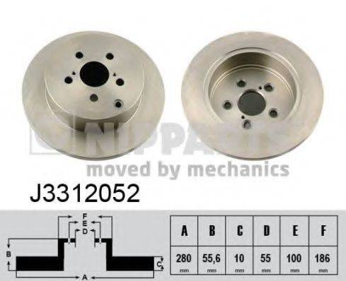 Тормозной диск NIPPARTS J3312052