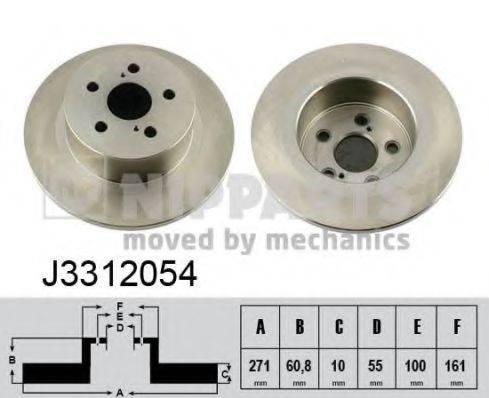 Тормозной диск NIPPARTS J3312054