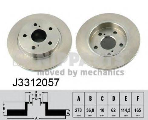 Тормозной диск NIPPARTS J3312057