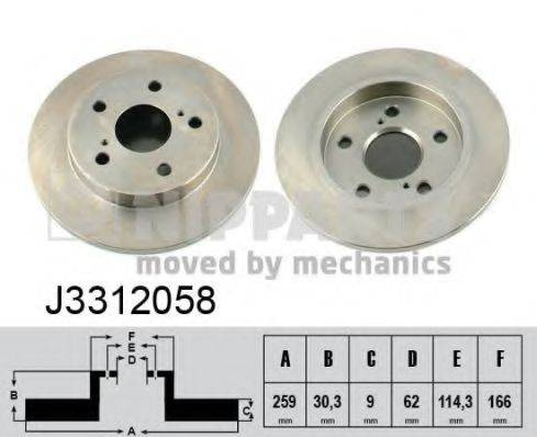 Тормозной диск NIPPARTS J3312058