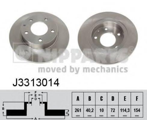 Тормозной диск NIPPARTS J3313014