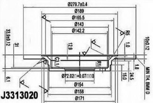 Тормозной диск NIPPARTS J3313020