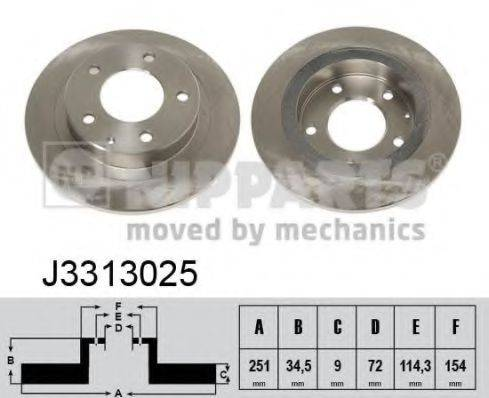 Тормозной диск NIPPARTS J3313025