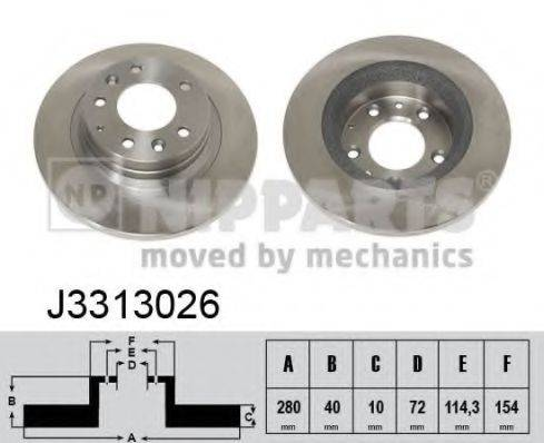 Тормозной диск NIPPARTS J3313026