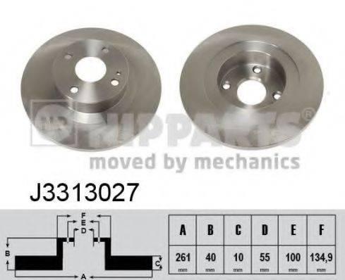 Тормозной диск NIPPARTS J3313027