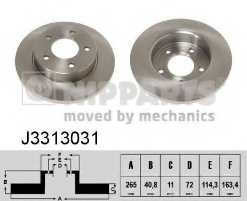 Тормозной диск NIPPARTS J3313031