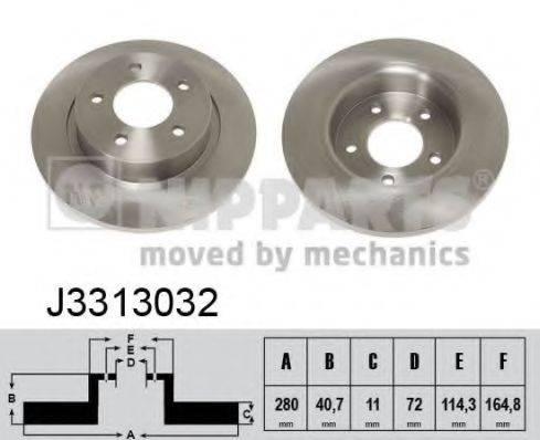 Тормозной диск NIPPARTS J3313032