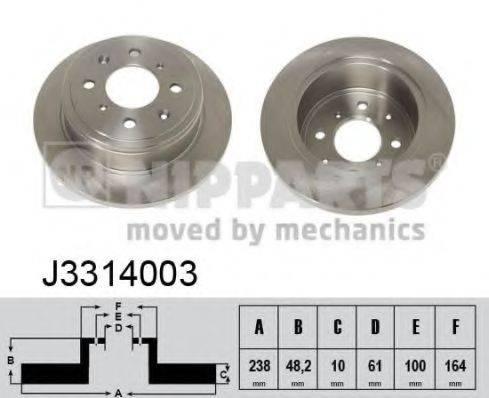Тормозной диск NIPPARTS J3314003