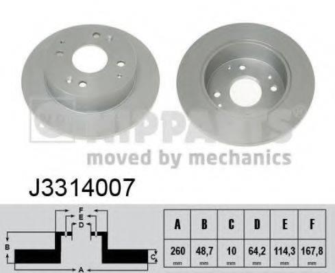 Тормозной диск NIPPARTS J3314007