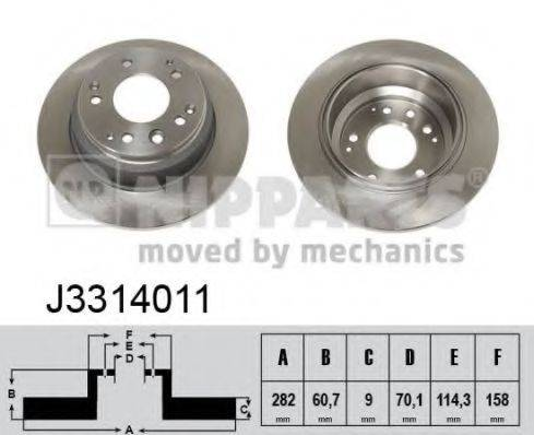 Тормозной диск NIPPARTS J3314011