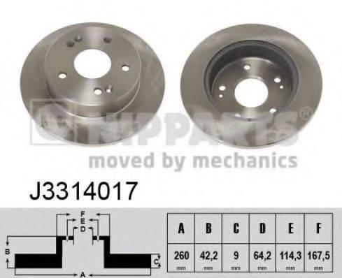 Тормозной диск NIPPARTS J3314017