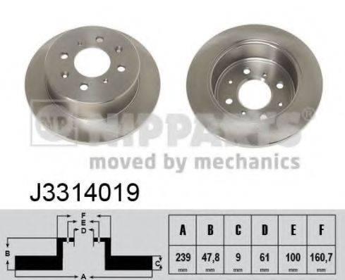 Тормозной диск NIPPARTS J3314019