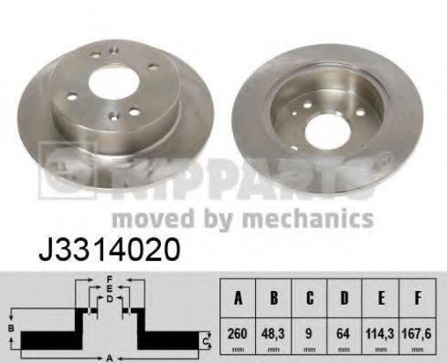 Тормозной диск NIPPARTS J3314020