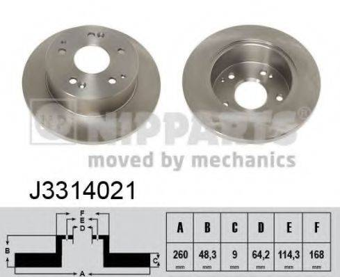 Тормозной диск NIPPARTS J3314021