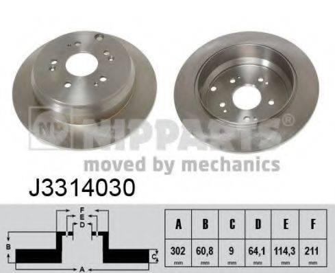 Тормозной диск NIPPARTS J3314030