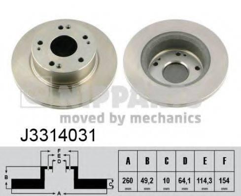Тормозной диск NIPPARTS J3314031