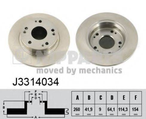 Тормозной диск NIPPARTS J3314034