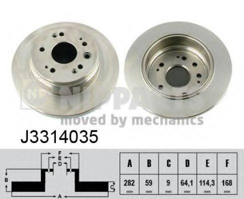 Тормозной диск NIPPARTS J3314035