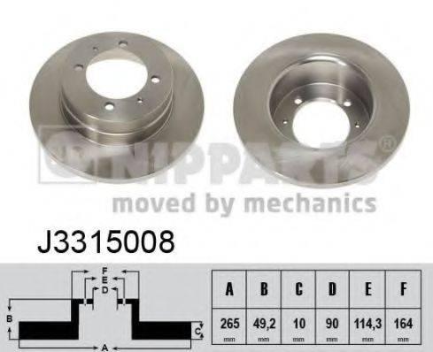 Тормозной диск NIPPARTS J3315008