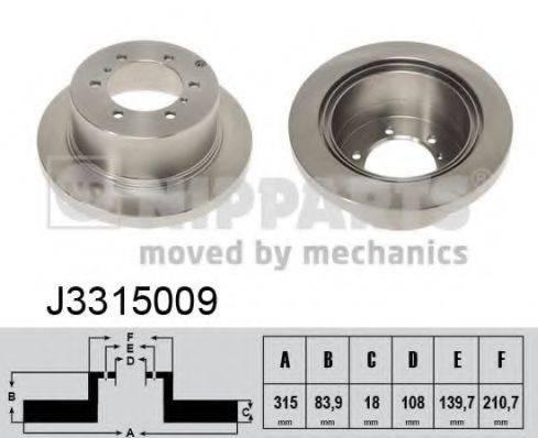 Тормозной диск NIPPARTS J3315009