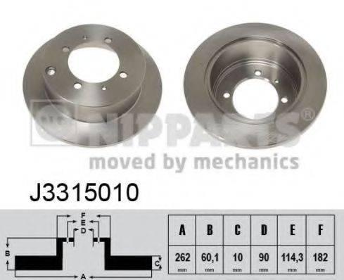 Тормозной диск NIPPARTS J3315010